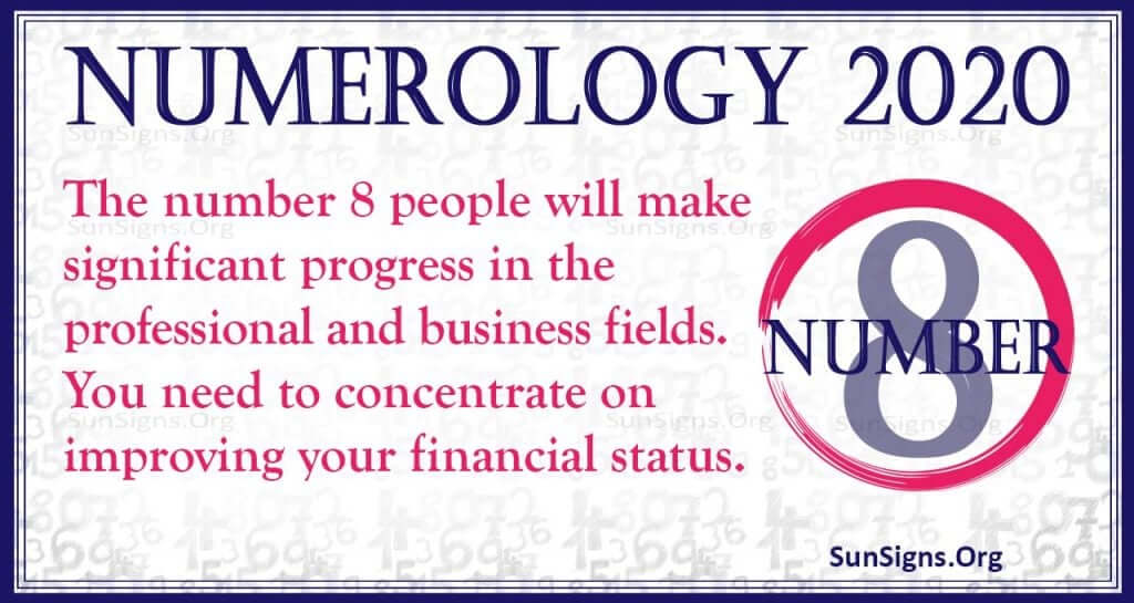 Number 8 - 2020 Numerology Horoscope