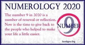 Number 9 - 2020 Numerology Horoscope