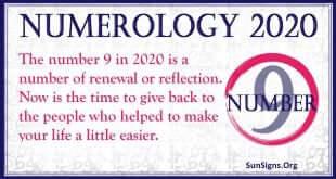 Number 9 - 2020 Numerology Horoscope