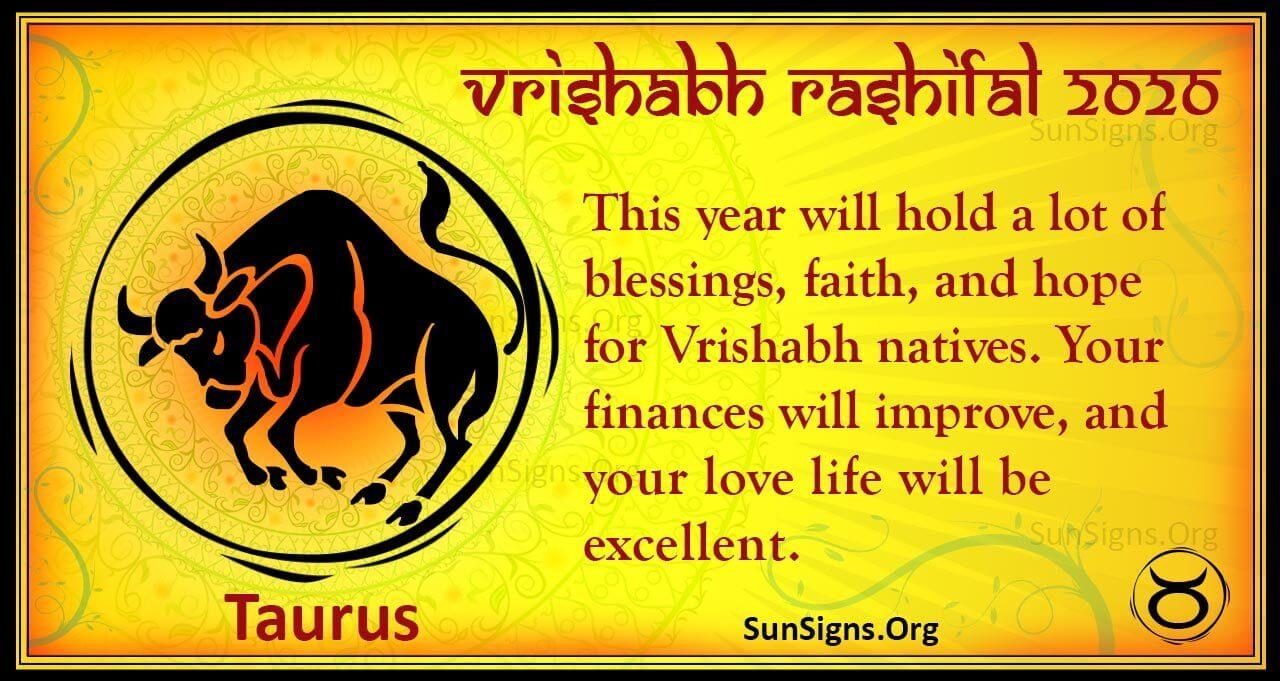 Vrishabh Rashifal 2020 - Yearly Bhavishya Rashi Predictions