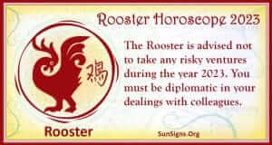 rooster Chinese horoscope 2023