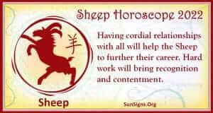 Chinese horoscope 2022 sheep