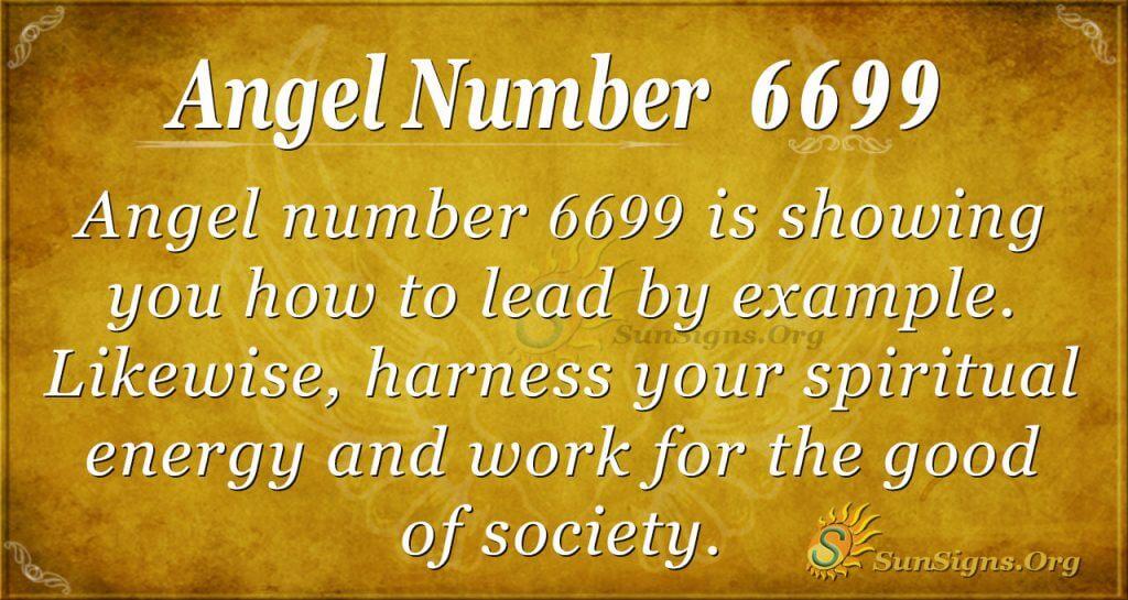 angel number 6699