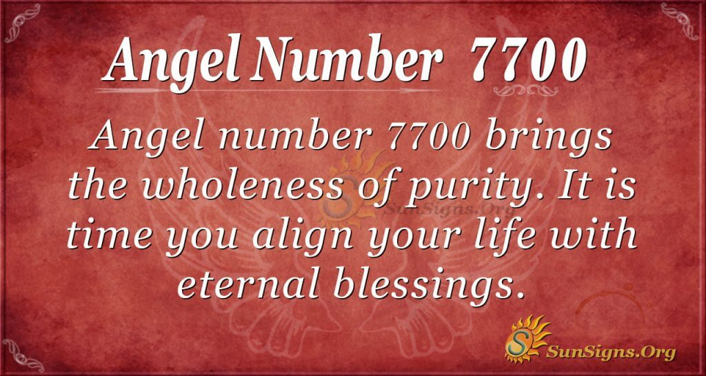 angel number 7700
