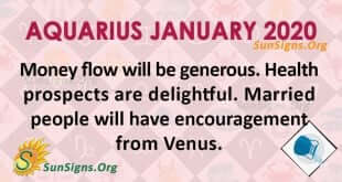 Aquarius January 2020 Horoscope
