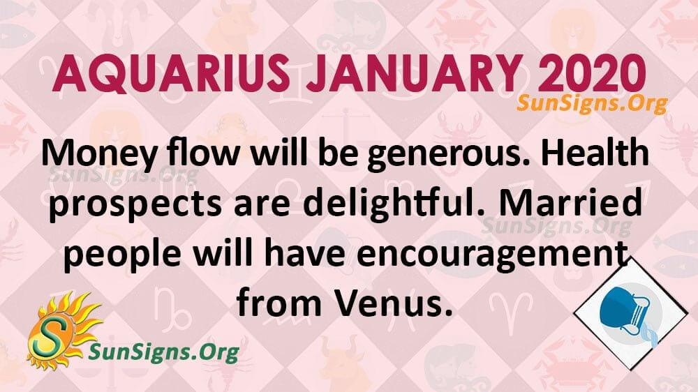 Aquarius January 2020 Horoscope