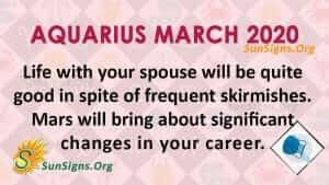 Aquarius March 2020 Horoscope
