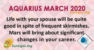 Aquarius March 2020 Horoscope