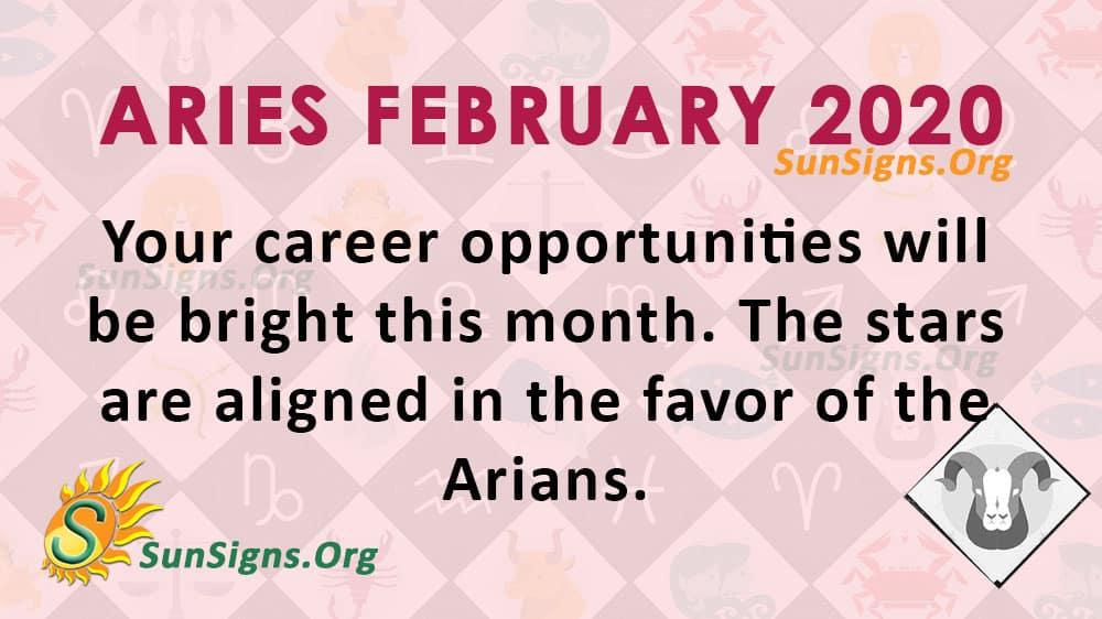Aries February 2020 Horoscope