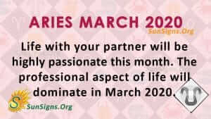 Aries March 2020 Horoscope