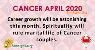 Cancer April 2020 Horoscope