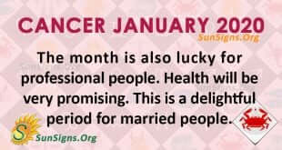 Cancer January 2020 Horoscope