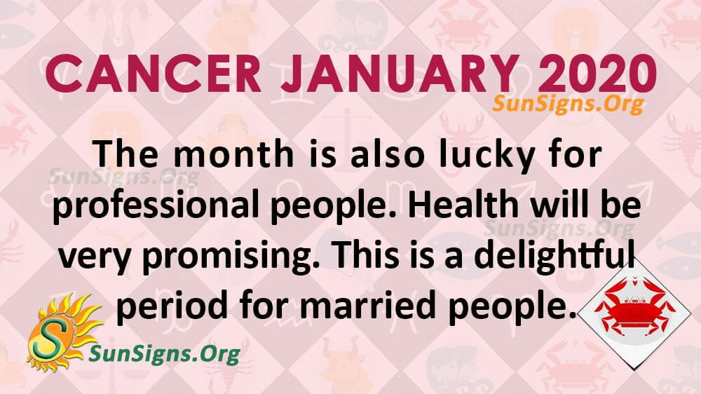 Cancer January 2020 Horoscope