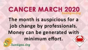 cancer horoscope for 26 march 2020