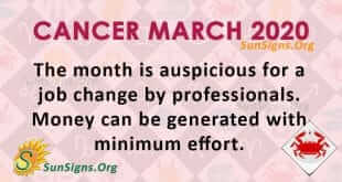 Cancer March 2020 Horoscope