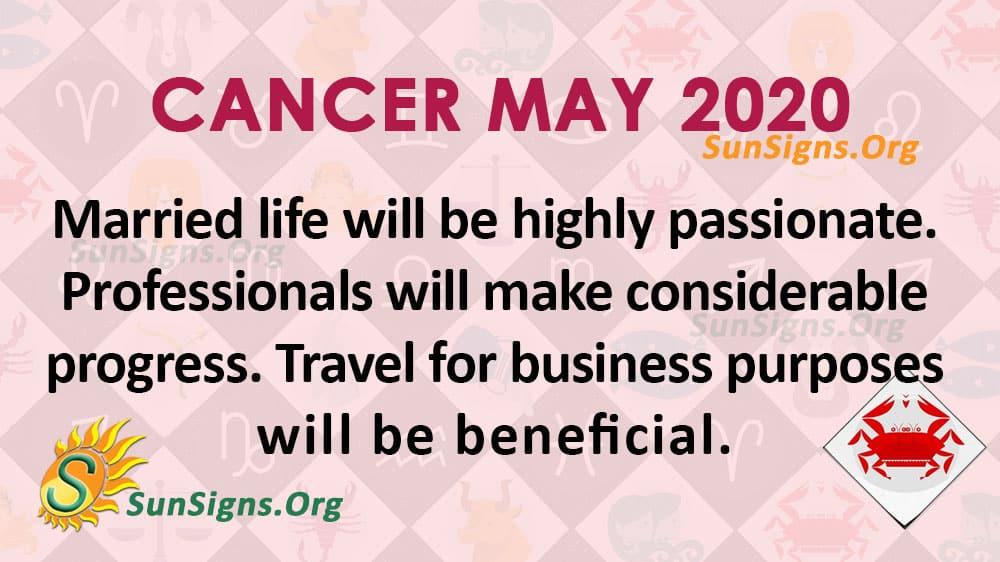 Cancer May 2020 Horoscope