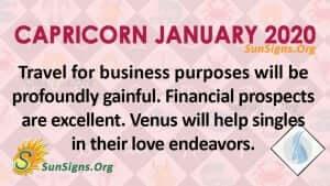 Capricorn January 2020 Horoscope