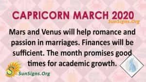 Capricorn March 2020 Horoscope