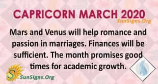Capricorn March 2020 Horoscope