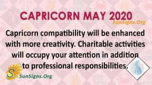 Capricorn May 2020 Horoscope