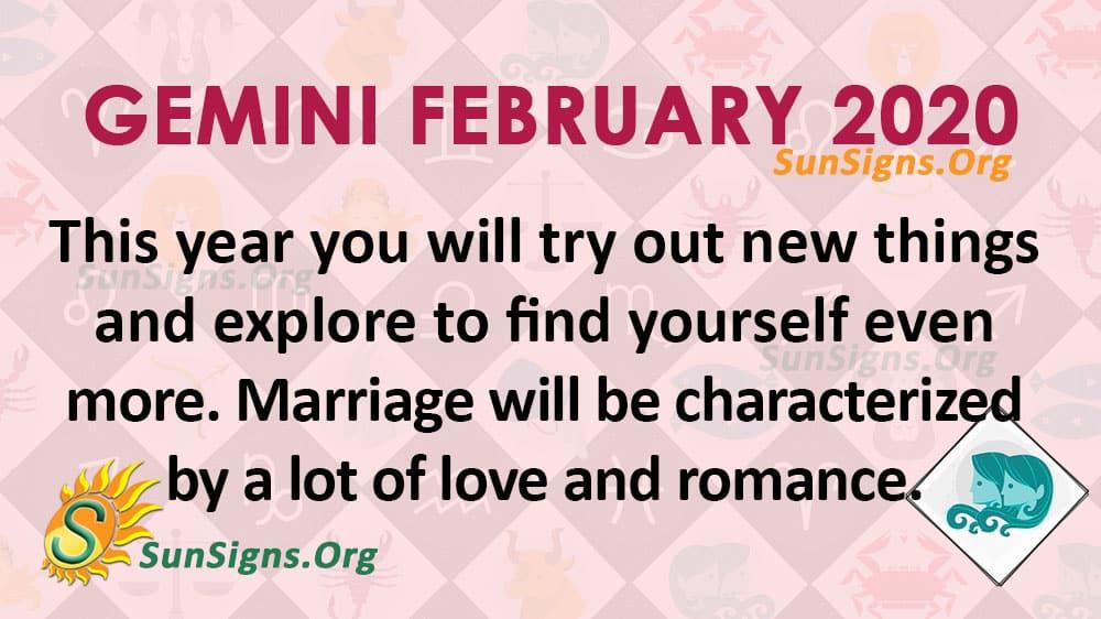 Gemini February 2020 Horoscope