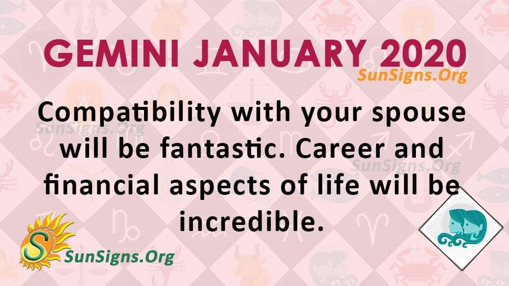 Gemini January 2020 Horoscope