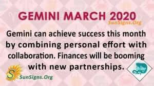 Gemini March 2020 Horoscope