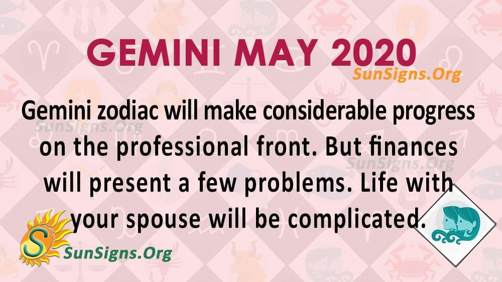 Gemini May 2020 Horoscope