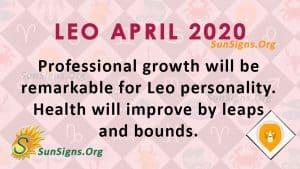 Leo April 2020 Horoscope
