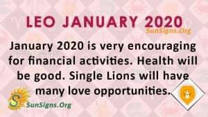 Leo January 2020 Horoscope