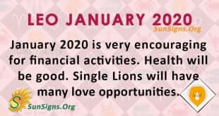Leo January 2020 Horoscope
