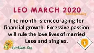 Leo March 2020 Horoscope