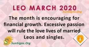 Leo March 2020 Horoscope