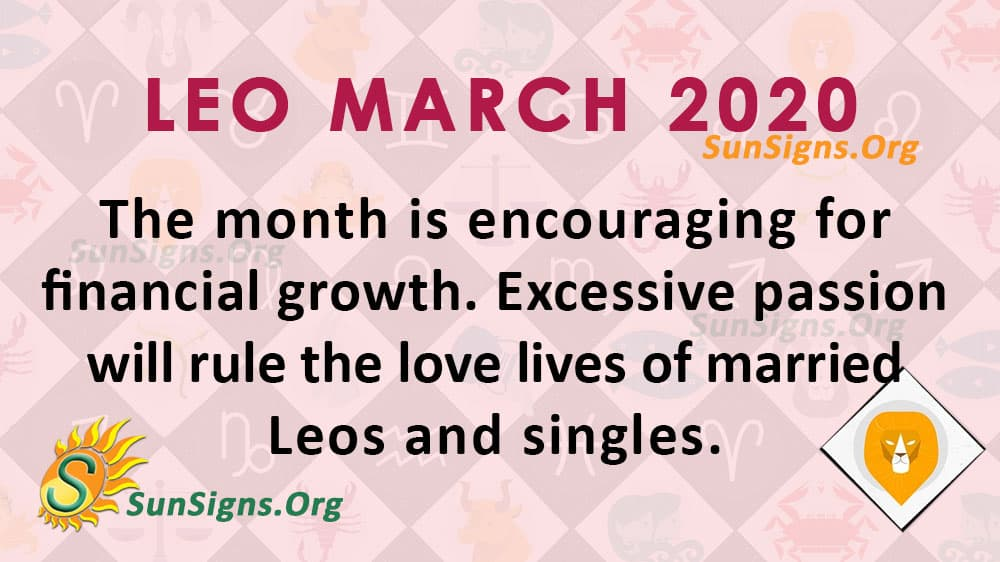 leo horoscope week of march 3 2020