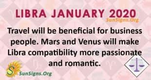 Libra January 2020 Horoscope