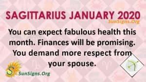 Sagittarius January 2020 Horoscope