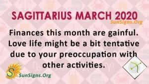 Sagittarius March 2020 Horoscope