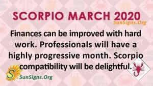 Scorpio March 2020 Horoscope