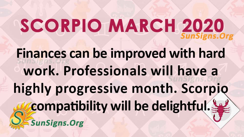 scorpio horoscope week of march 1 2020