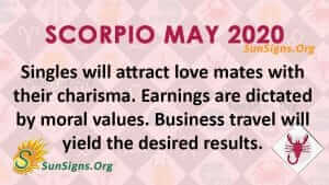 Scorpio May 2020 Horoscope