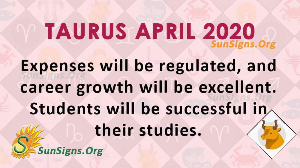 Taurus April 2020 Horoscope