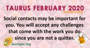 Taurus February 2020 Horoscope