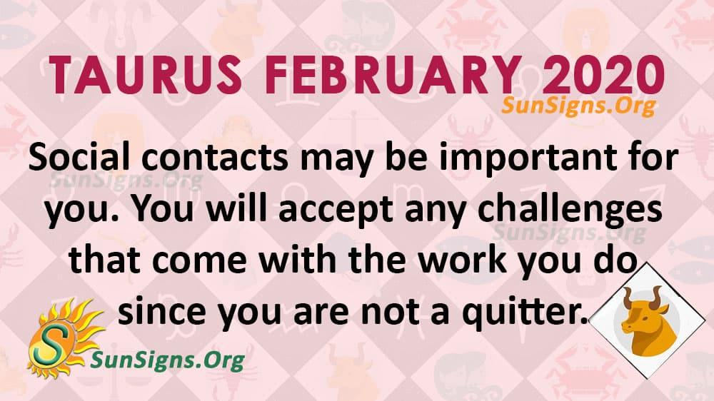Taurus February 2020 Horoscope