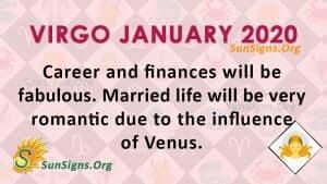 Virgo January 2020 Horoscope