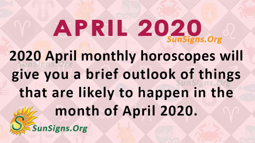 April 2020 Horoscope