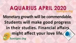 Aquarius April 2020 Horoscope