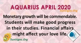 Aquarius April 2020 Horoscope