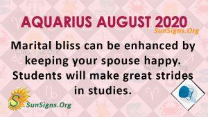 Aquarius August 2020 Horoscope