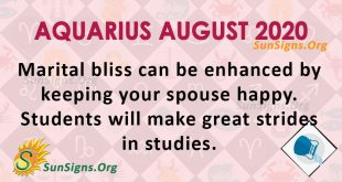 Aquarius August 2020 Horoscope