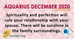 Aquarius December 2020 Horoscope